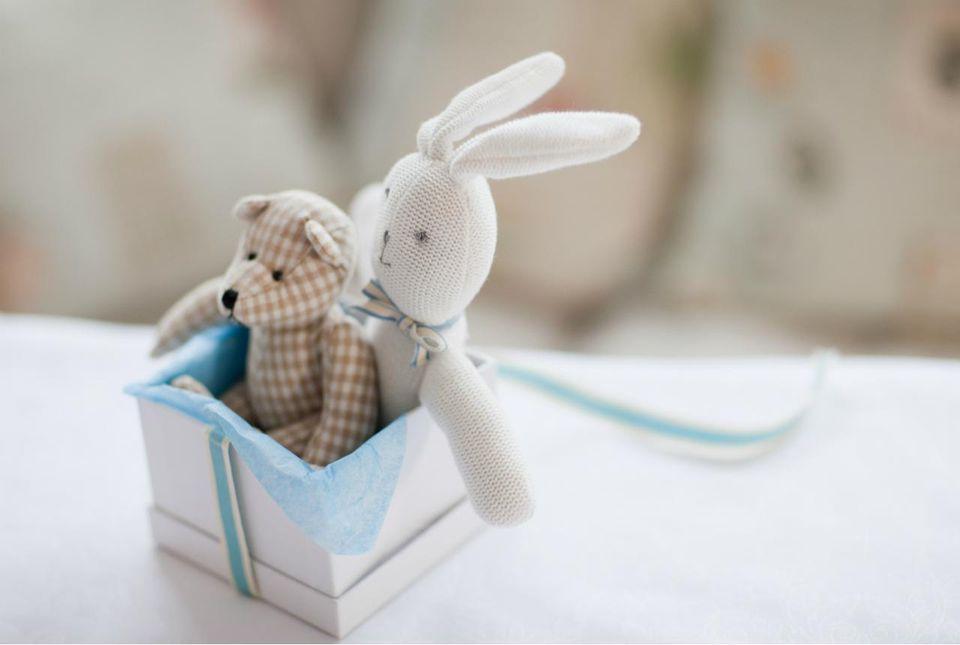 Stuffed toys in gift box