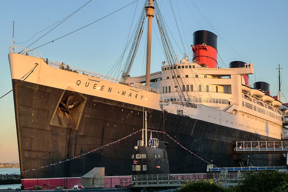 Queen Mary at Sunset