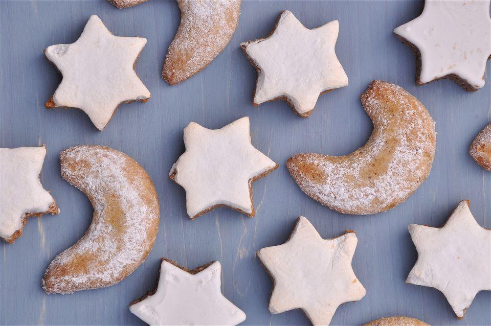 German Cinnamon Star and Vanilla Crescent Cookies