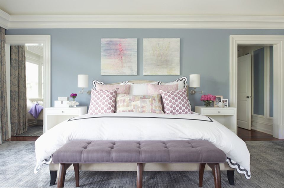 purple feature wall bedroom our home ideas purple bedrooms tips and photos for decorating 811