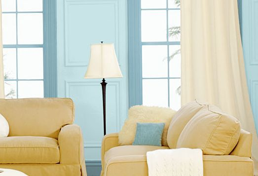 Family Room Paint Blue