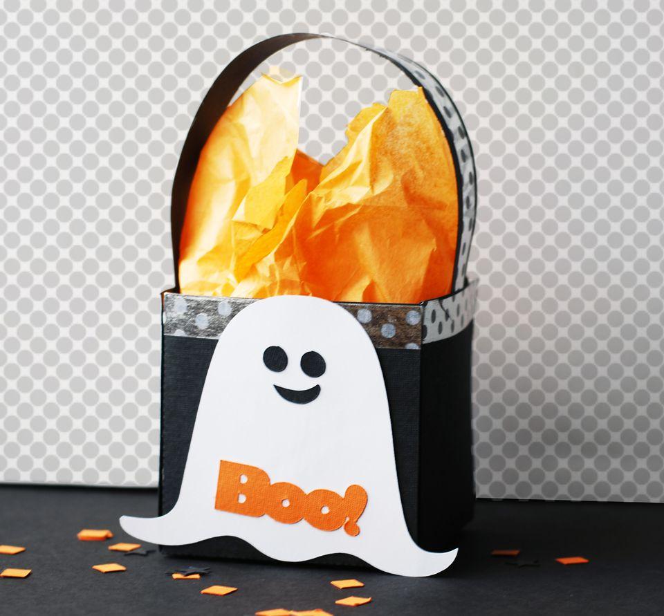 Halloween Ghost Treat Bag Paper Craft