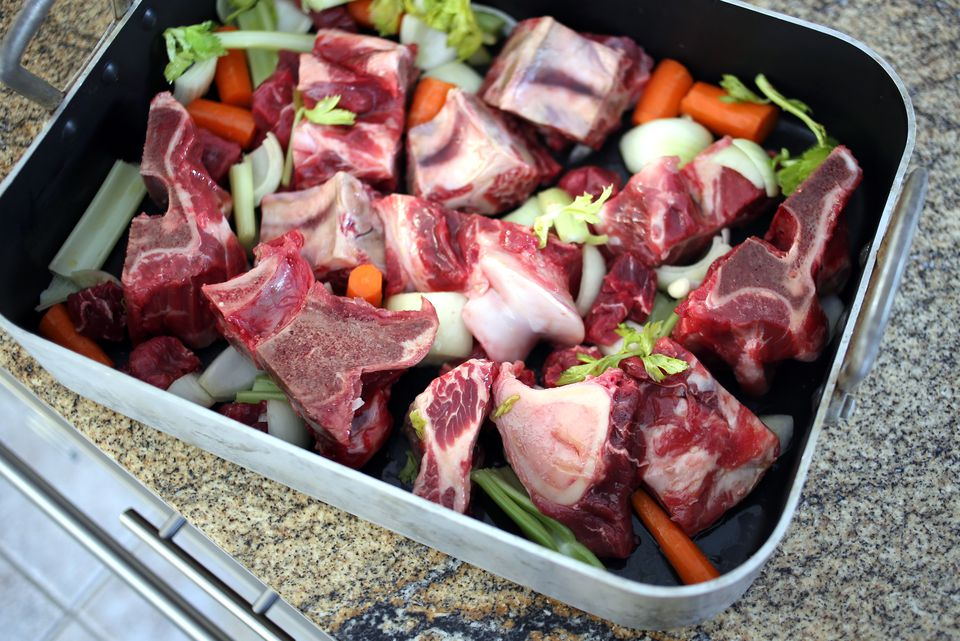 beef stock prep