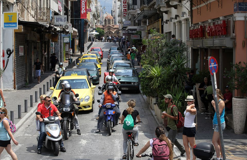 Greeks Continue Their Lives As They Struggle To Cope With Austerity Cuts After The Financial Crisis.