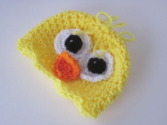 Use the crazy brick stitch for this crochet chick hat