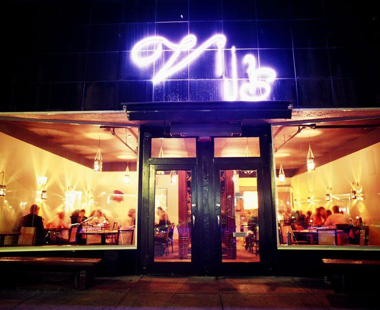 Outside Vij's Resturant