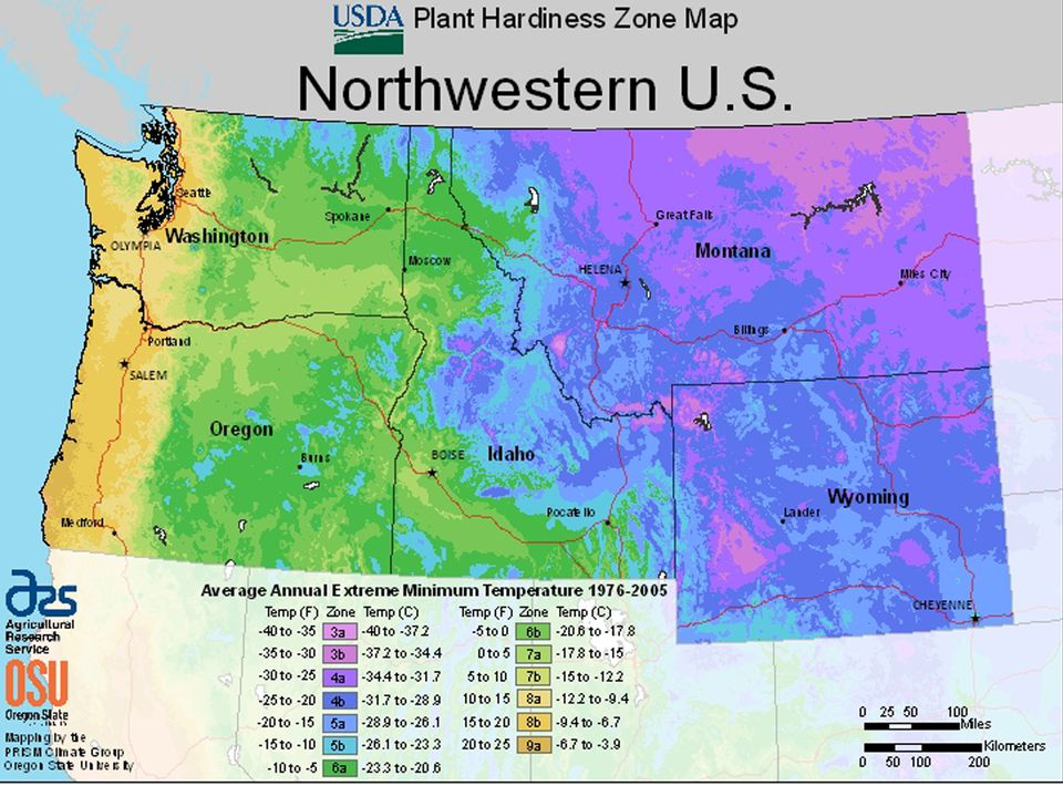 Maps for Growing Zones From the USDA How Cold It Gets