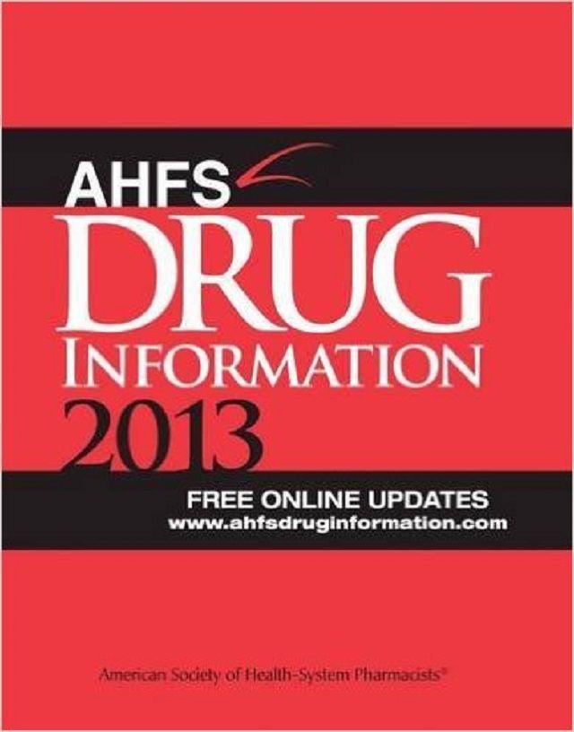 AHFS Drug Information, 2013 Edition