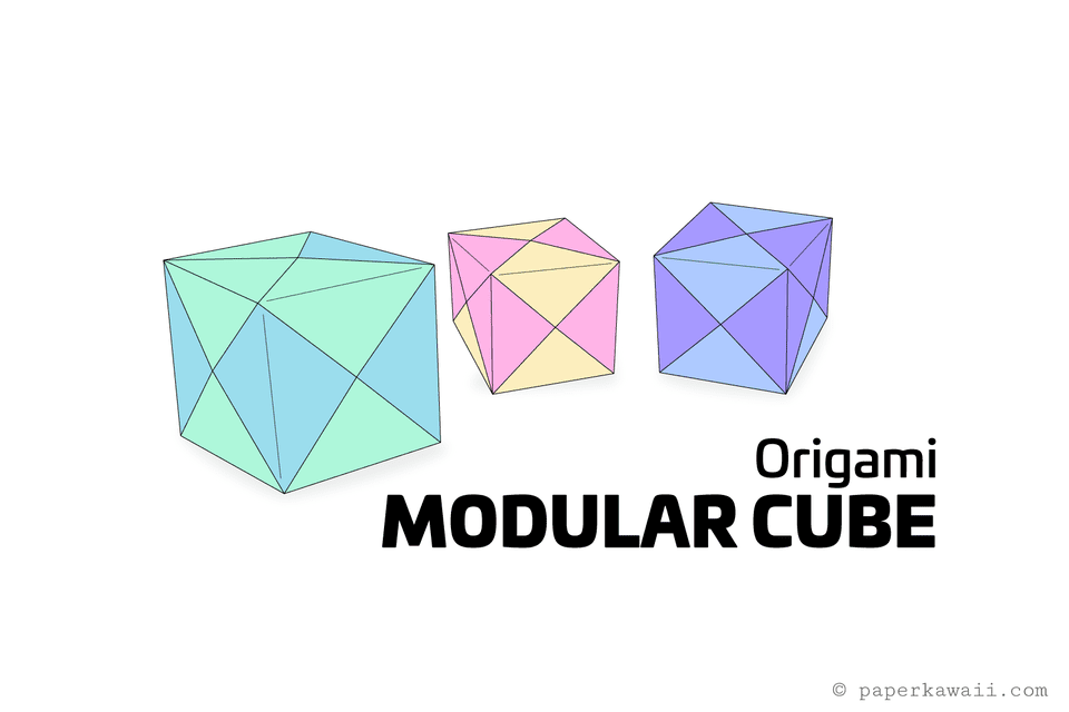 easy origami modular cube instructions 01