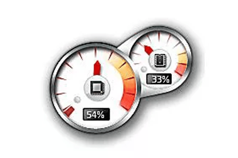 Screenshot of the CPU Meter Windows gadget