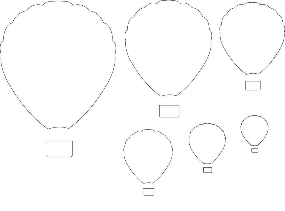 hot air balloon printable template