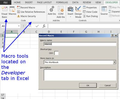 Template Files in Excel Spreadsheet