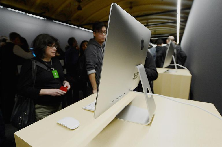 The new iMac is on display after it was unveiled during an Apple special event at the historic California Theater on October 23, 2012.