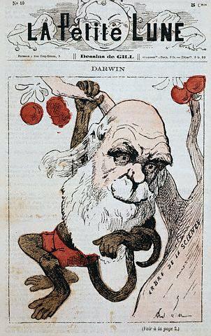 Darwin como un mono en una portada francesa