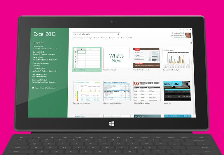 Excel 2013 RT