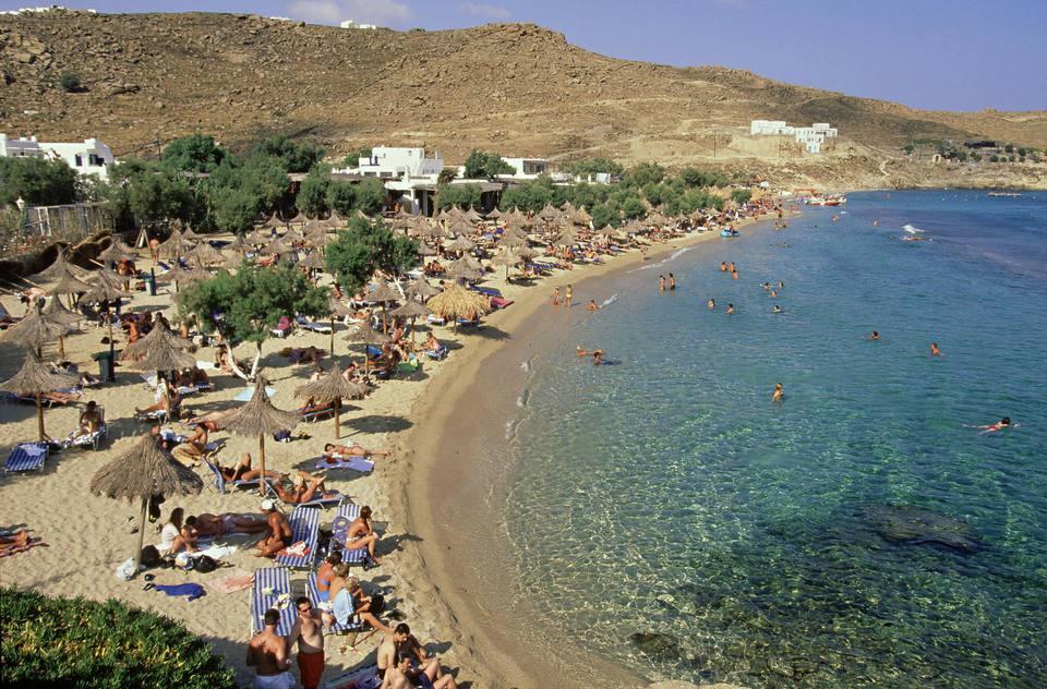 Paradise beach, Mykonos, Greece