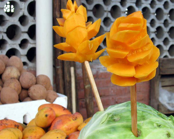 Mango on a stick