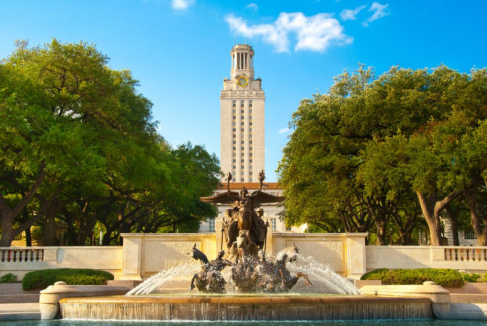 University of Texas Tower and Fountain