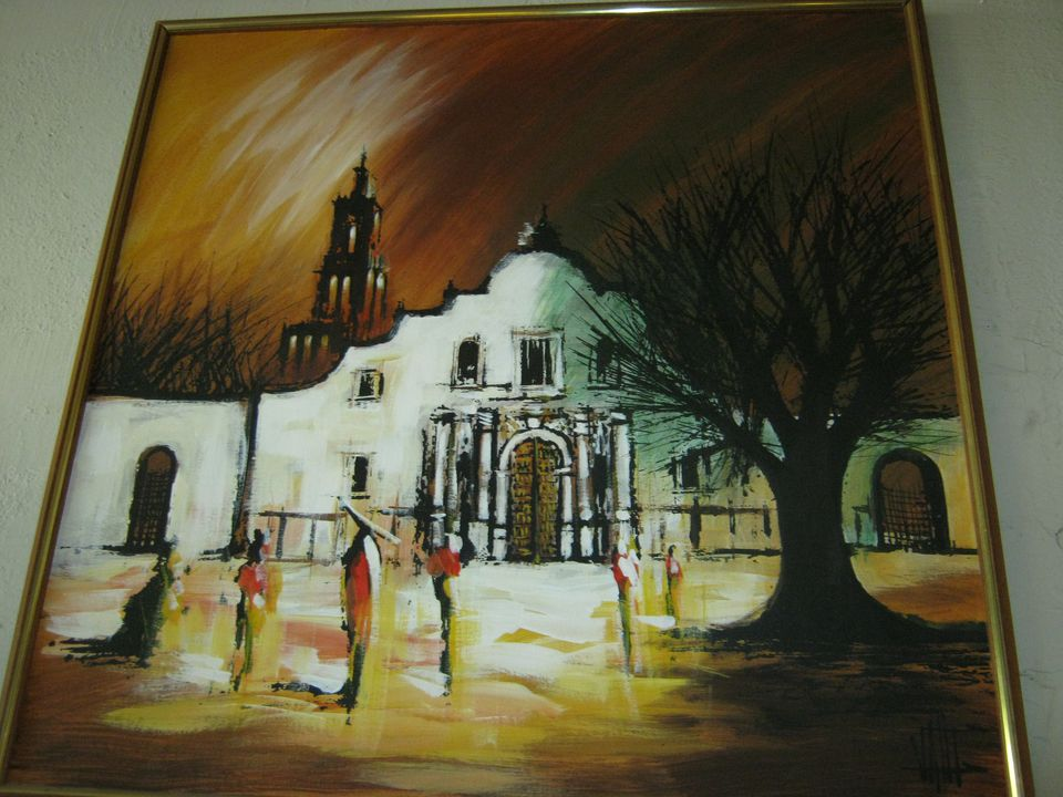 """""""Vintage Painting of Mission"""" by lacasavictoria is licensed under CC BY 2.0"""