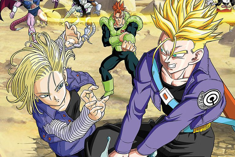 Android 18 and Trunks Dragon Ball Season Four on Blu-ray