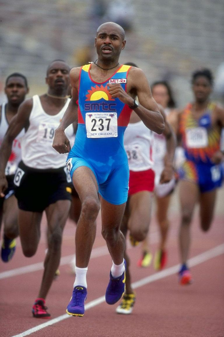 21 Jun 1998: Johnny Gray #237 runs in front of Mark Everett #194 in the Men''s 800m during the U.S. Track & Field Championships at the Tad Gormley Stadium in New Orleans, Louisiana.