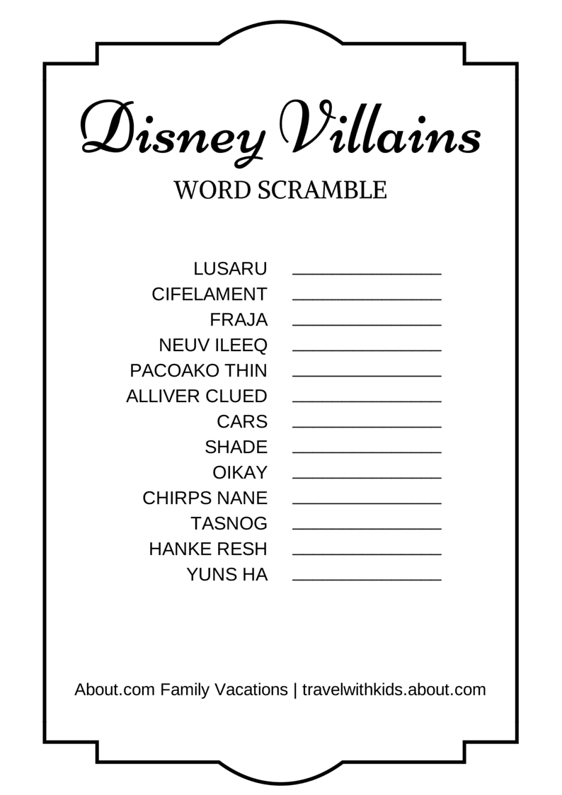 scramble word search 14 free disney printable word searches mazes 509