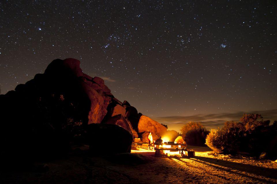Winter night in Joshua Tree National Park