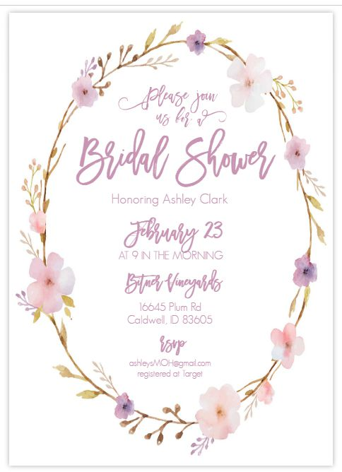 free printable bridal shower invite from wedding chicks - Wedding Shower Invites