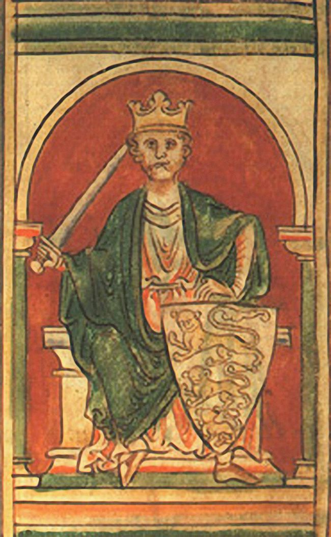 Richard the Lionheart from a 12th-Century Codex