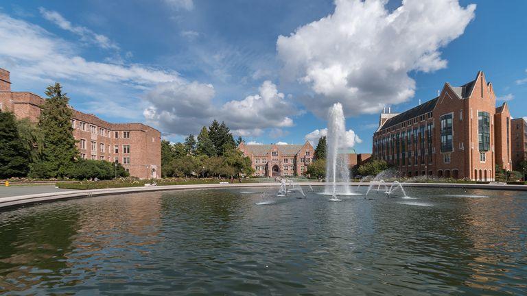 University of Washington fountain