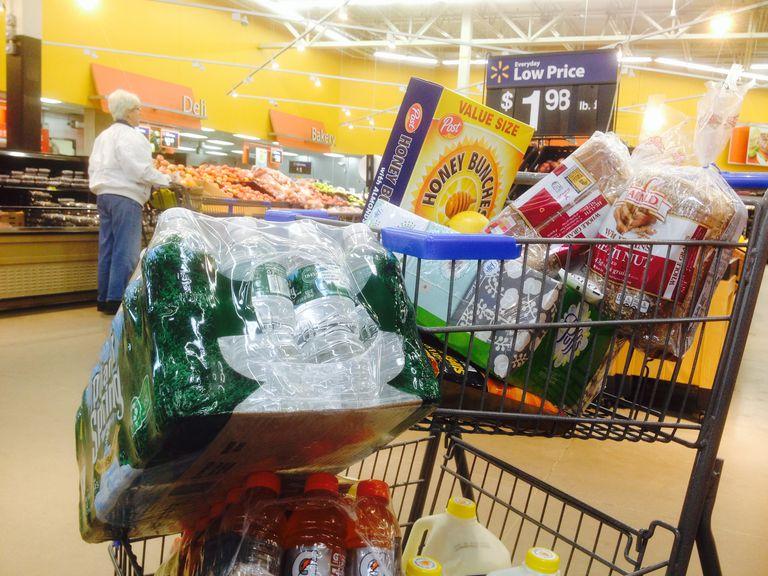 Walmart store shopping cart