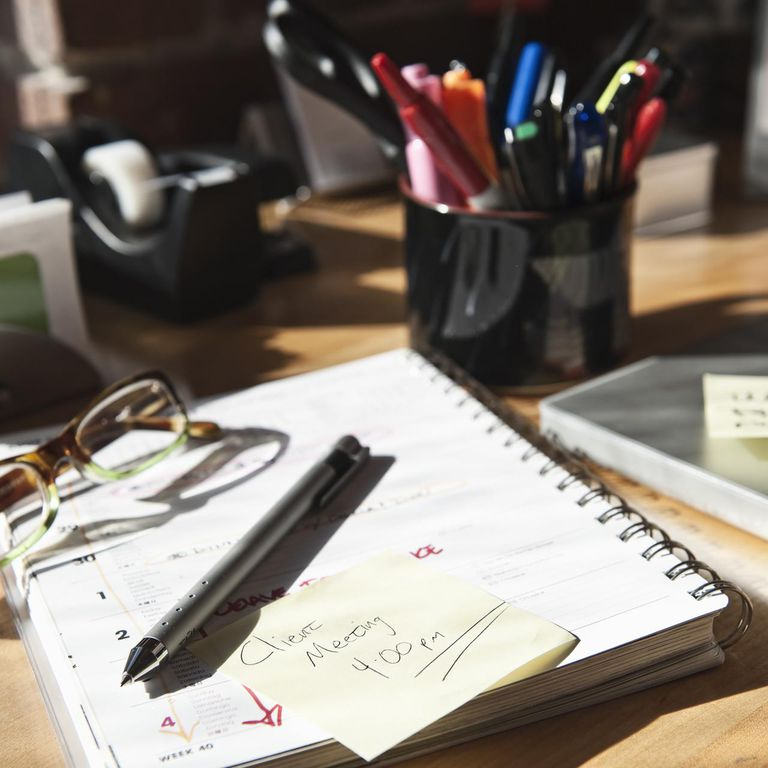 Desk with calendar and to do list