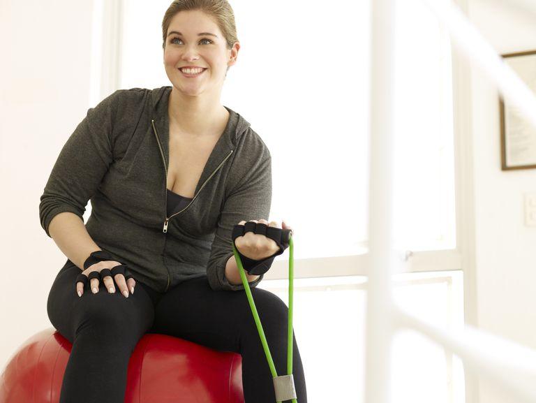 overweight exerciser
