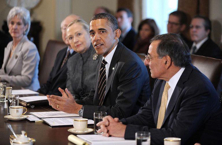 President Obama Attends A Cabinet Meeting