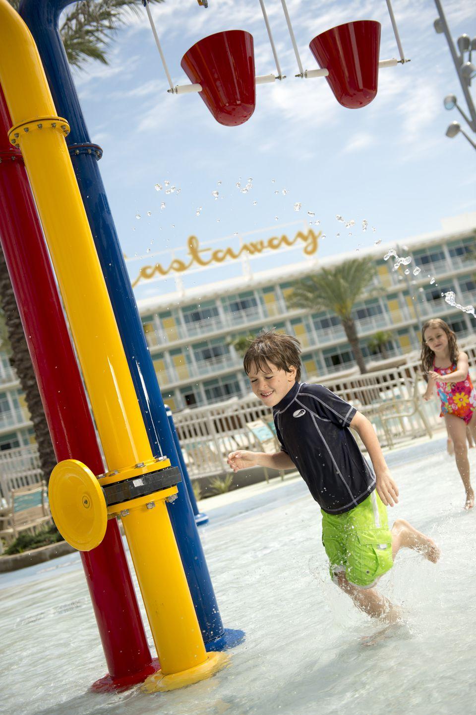 Cabana Courtyard kids area at Universal Orlando's Cabana Bay Beach Resort.