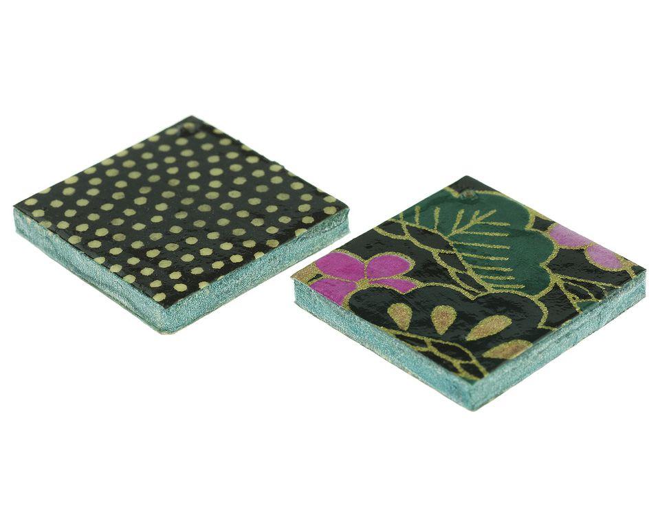decoupaged tiles