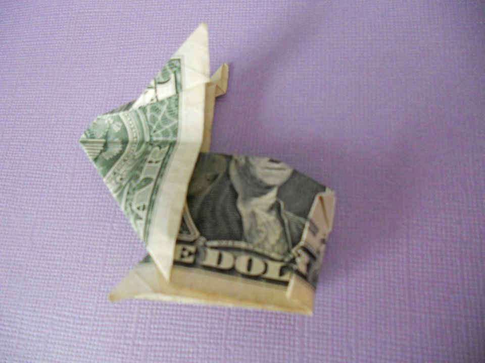 learn how to make a crafty origami bunny out of cash
