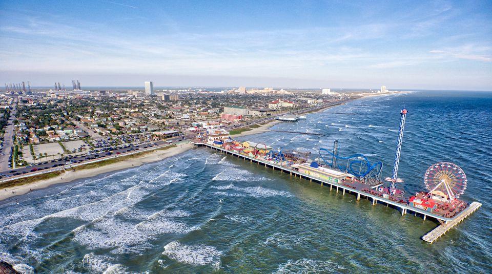 High Angle View Of Pier On Sea
