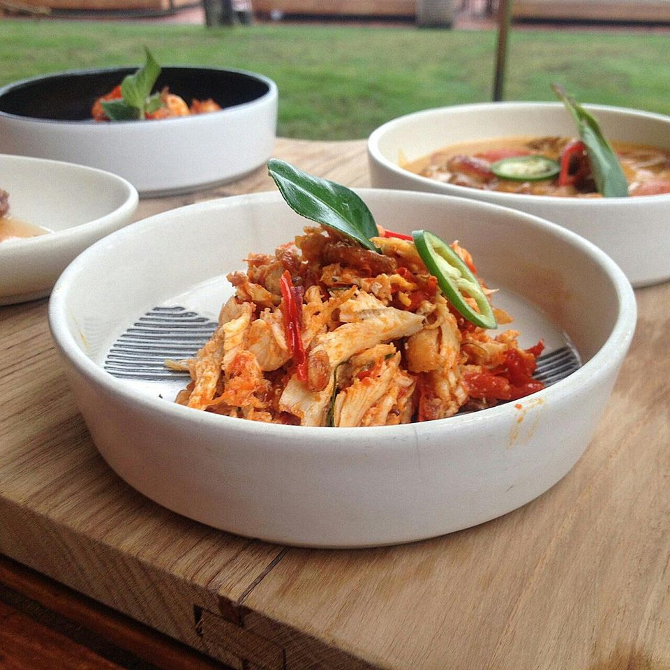 Close-Up Of Shredded Chicken In Bowl On Table