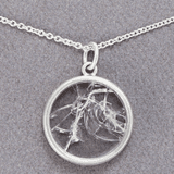 shattered glass ceiling necklace