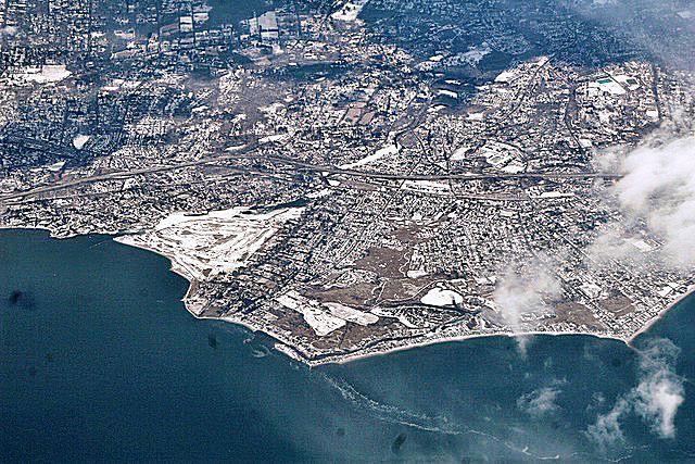 Fairfield, Connecticut from the air