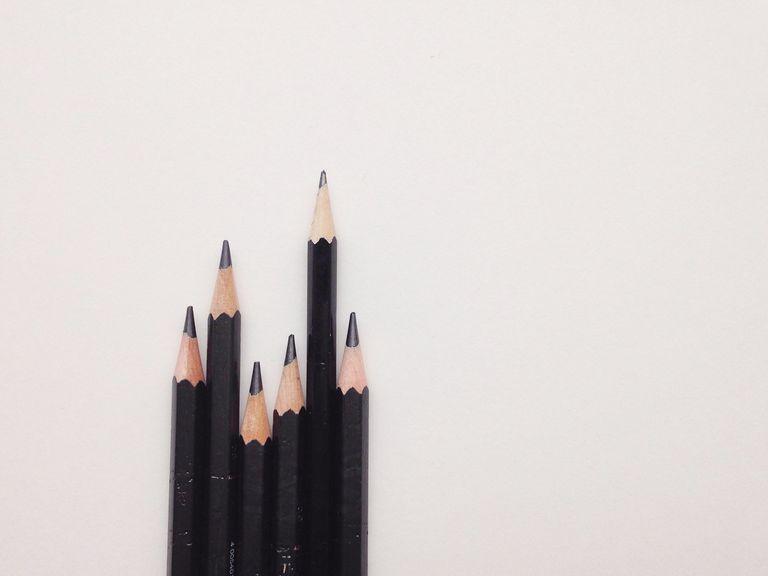 Wooden Pencils In Row