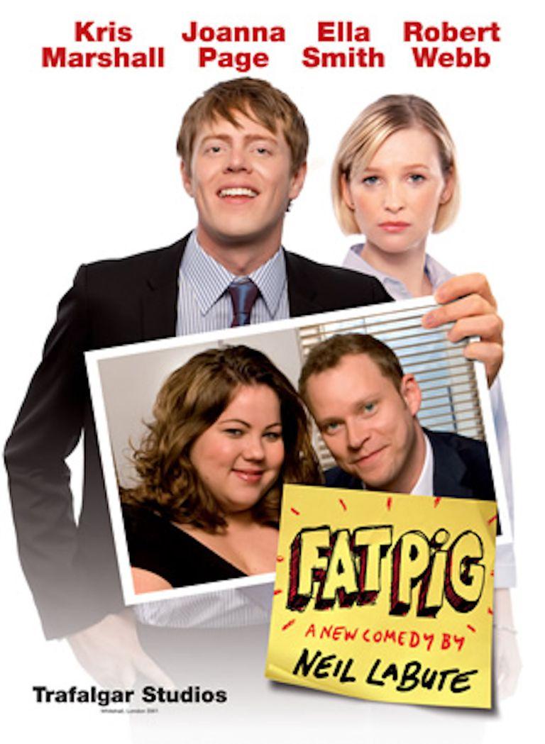 Fat Pig promotional poster (2008 London run, original cast)