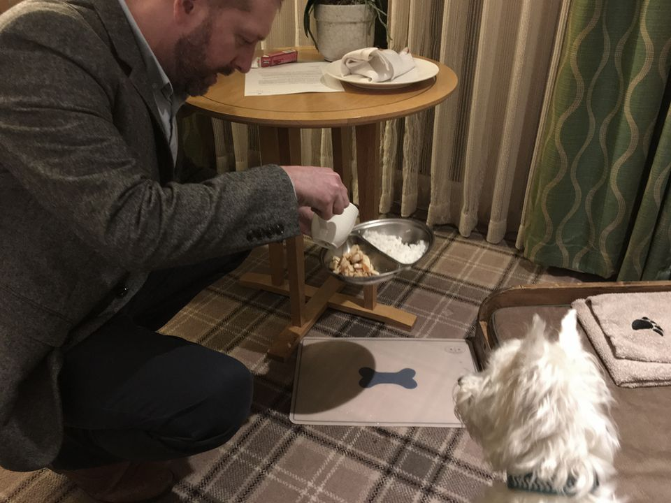 At Tewkesbury Park Hotel, Lulu gets the pampered pet treatment with a meal prepared by the chef.