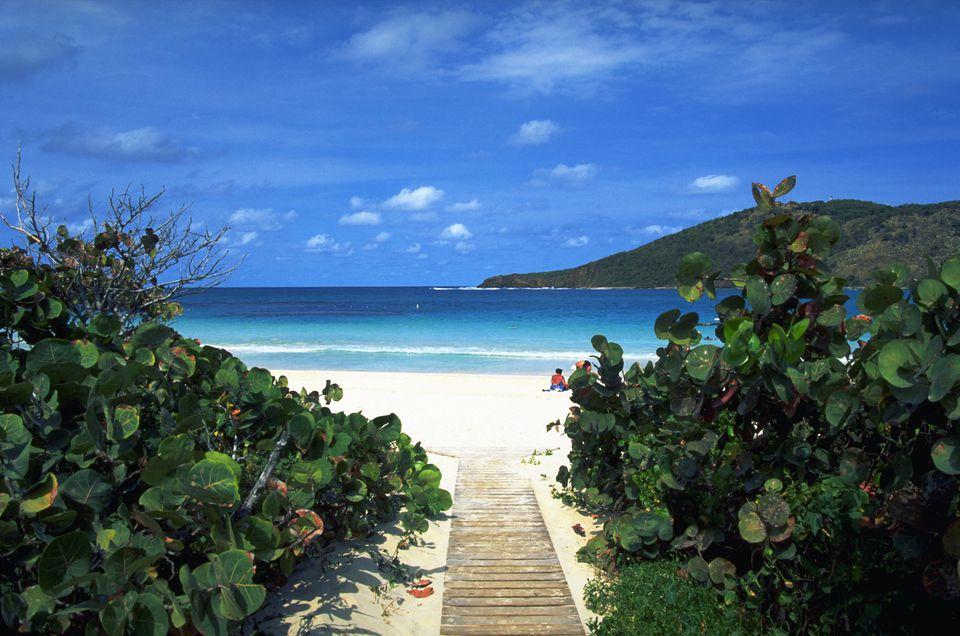 Walkway to Flamenco Beach