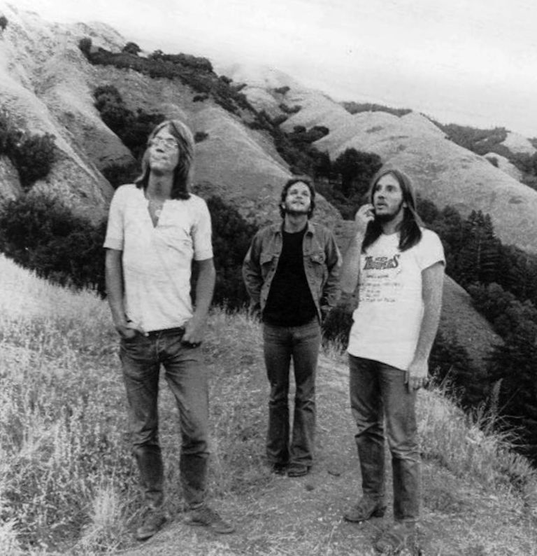 Promotional photo of the music group America. L to R: Gerry Beckley, Dan Peek, Dewey Bunnell
