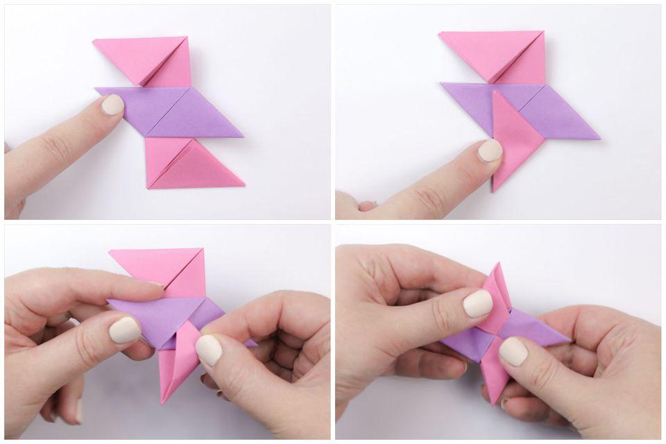 origami ninja star tutorial 5