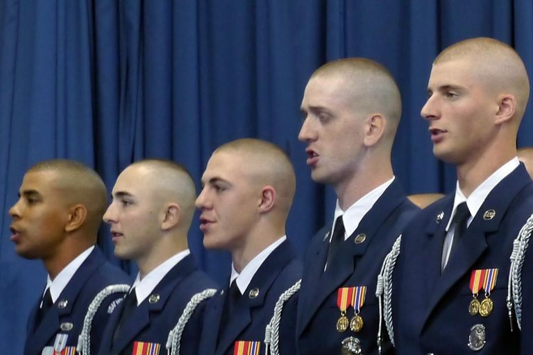 Graduation from Air Force Honor Guard Technical School