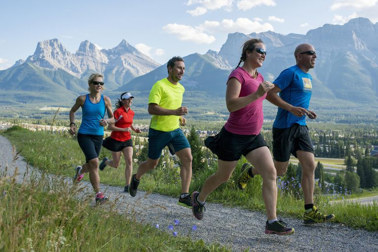 group of runners on a path