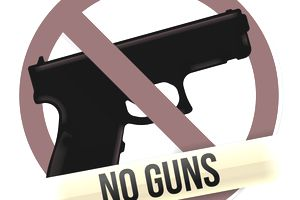 No guns or knives are allowed at work per this concealed weapons policy.